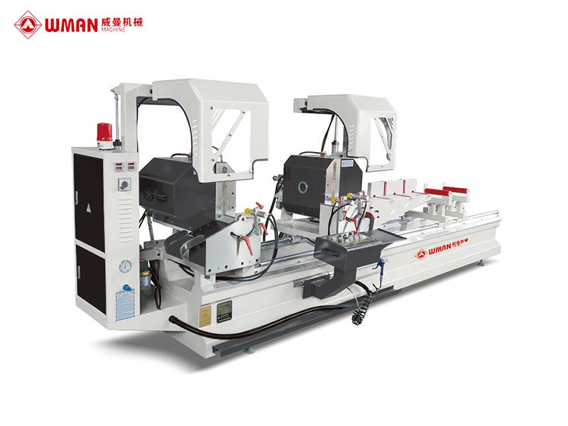 铝塑型材数显双头精密切割锯(自动内外翻转)LZXJX-550×4200N
