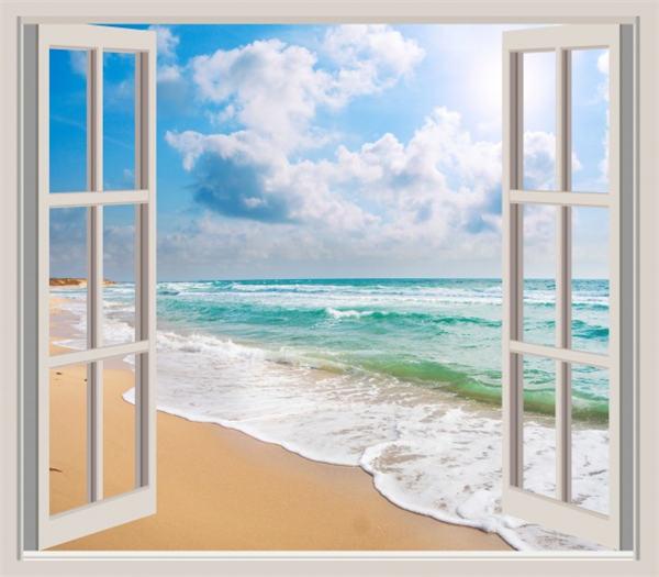 白色边框家庭住宅门窗