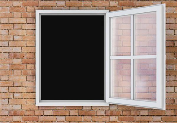 小区白色窗纱一体门窗